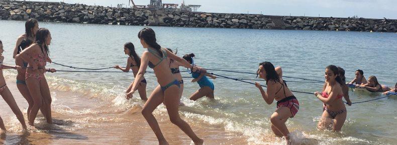 Actividades lúdico-deportivas en la Playa de las Teresitas