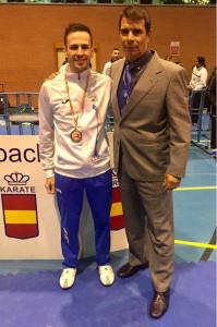 José Fernández y Filo, seleccionador regional y director Club Karate Echeyde.